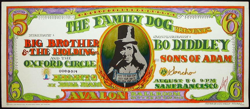 The Family Dog Flyer für ein Konzert