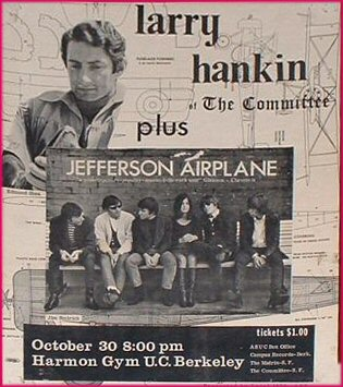 Larry Hankin performance with Jefferson Airplane opening in 1965